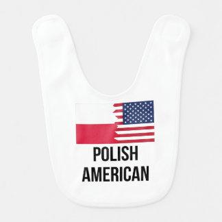 Bandera americana polaca baberos de bebé