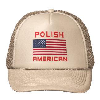 Bandera americana polaca gorro de camionero