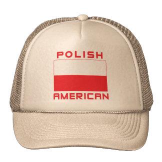Bandera americana polaca gorros bordados
