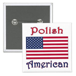 Bandera americana polaca pins