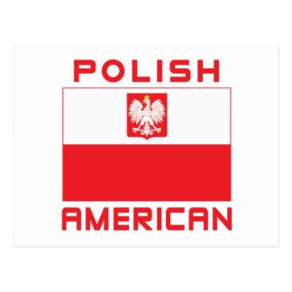 Bandera americana polaca postales
