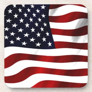 Bandera americana posavasos de bebida