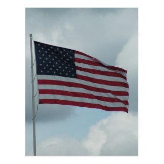 Bandera americana postales