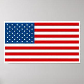 Bandera americana póster