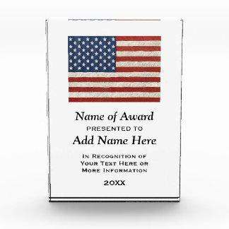Bandera americana presentada al ganador