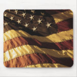 Bandera americana primitiva Mousepad Tapete De Ratones