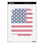 Bandera americana punteada iPad 2 calcomanía