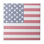 Bandera americana punteada tejas  cerámicas