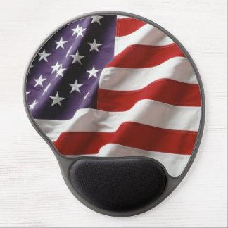 Bandera americana que agita alfombrilla gel
