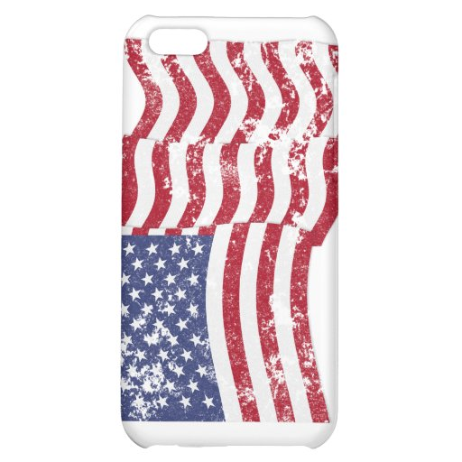 Bandera americana que agita - apenada