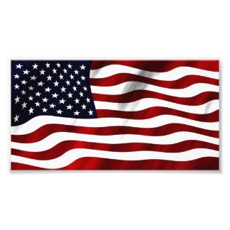 Bandera americana que agita fotografías