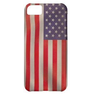 Bandera americana que agita funda para iPhone 5C