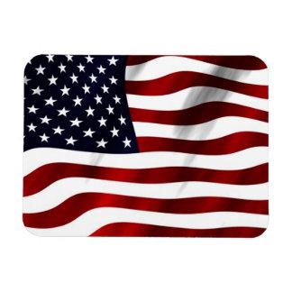 Bandera americana que agita imán rectangular