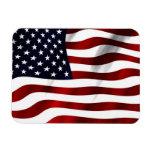 Bandera americana que agita imanes