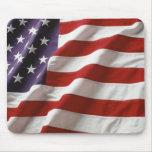 Bandera americana que agita Mousepad Tapetes De Ratones