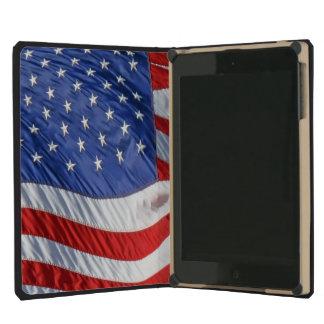 Bandera americana que agita patriótica