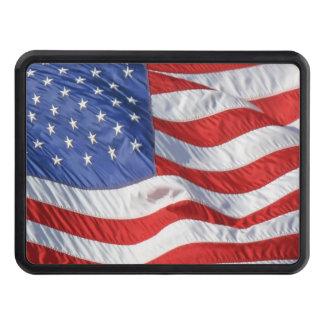 Bandera americana que agita patriótica tapas de tráiler