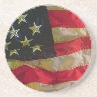 Bandera americana que vuela posavasos diseño