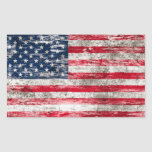 Bandera americana rascada y llevada rectangular altavoces