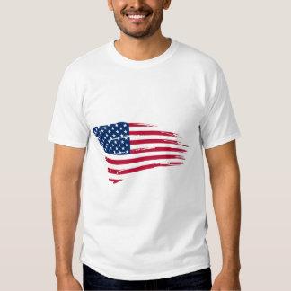 Bandera americana rasgada poleras