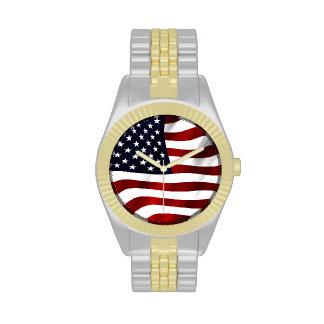 Bandera americana reloj