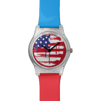Bandera americana relojes de mano