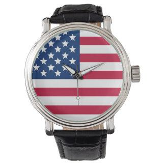 Bandera americana relojes de pulsera
