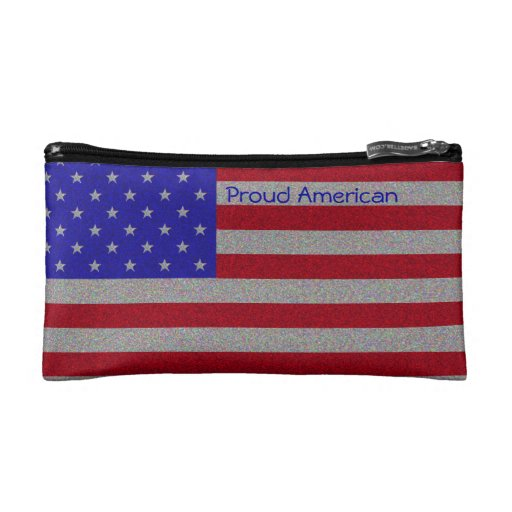 Bandera americana reluciente