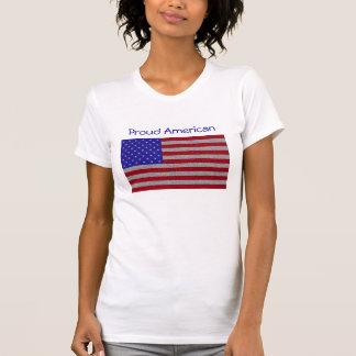 Bandera americana reluciente camiseta