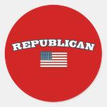 Bandera americana republicana etiquetas redondas