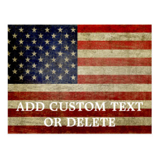 Bandera americana resistida apenada