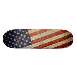 Bandera americana resistida, apenada monopatín personalizado
