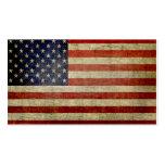 Bandera americana resistida, apenada tarjetas de visita