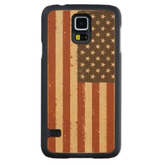 Bandera americana retra del Grunge Funda De Galaxy S5 Slim Arce