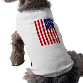 Bandera americana camisetas de perrito