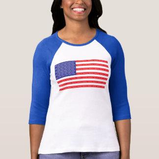 Bandera americana ruidosa y orgullosa playera