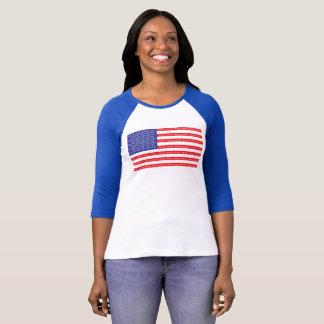 Bandera americana ruidosa y orgullosa poleras