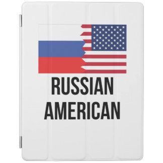Bandera americana rusa cubierta de iPad
