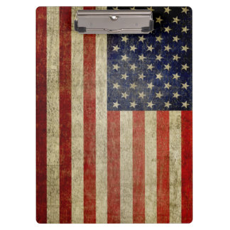 Bandera americana rústica