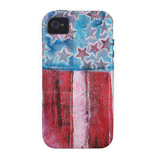 Bandera americana rústica iPhone 4 funda