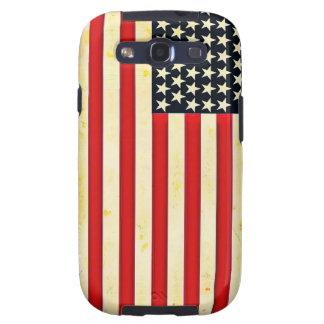 Bandera americana rústica galaxy SIII fundas