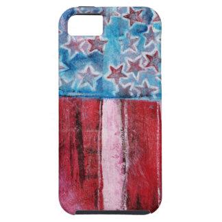 Bandera americana rústica iPhone 5 Case-Mate carcasas