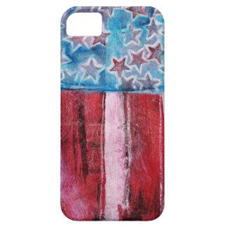 Bandera americana rústica iPhone 5 protectores