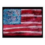 Bandera americana rústica postales