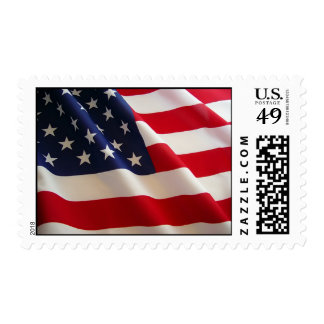 Bandera americana sellos postales