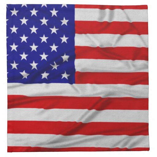 Bandera americana servilleta