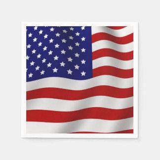 Bandera americana servilletas desechables