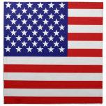 Bandera americana servilleta de papel