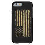 Bandera americana sometida funda de iPhone 6 tough