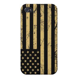 Bandera americana sometida iPhone 4/4S fundas